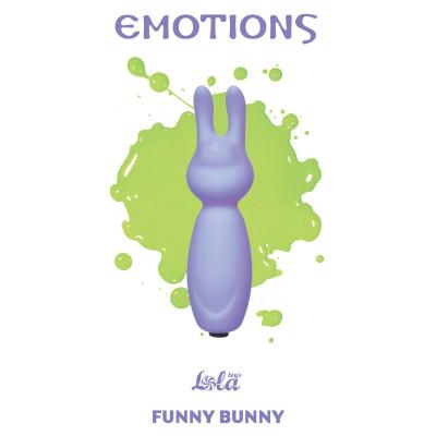 Фиолетовый мини-вибратор с ушками Emotions Funny Bunny Lavender