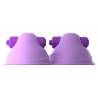 Фиолетовые виброприсоски-стимуляторы на соски Vibrating Nipple