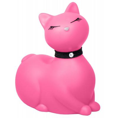 Розовый массажёр-кошка I Rub My Kitty с вибрацией
