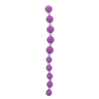 Фиолетовая анальная цепочка JUMBO JELLY THAI BEADS CARDED LAVENDER - 31,8 см.