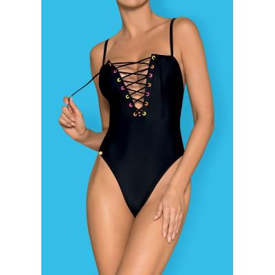 Слитный женский купальник Beverelle со шнуровкой