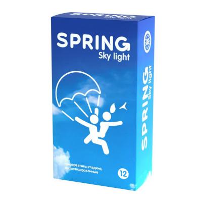 Ультратонкие презервативы SPRING SKY LIGHT - 12 шт.
