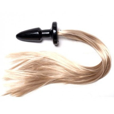 Пробка с длинным хвостом Блонди - 11 см.